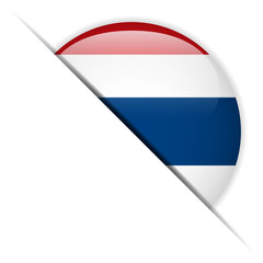 Thailand Flag Glossy Button