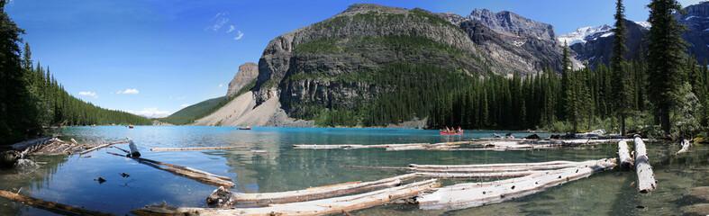 Moraine lake et bois