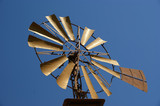 Old ranch windmill