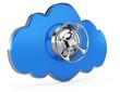 cloud with closed safe door