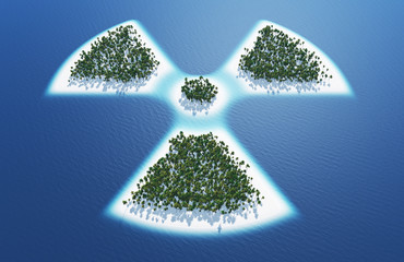 Radioaktiv Symbol - Insel Konzept 2