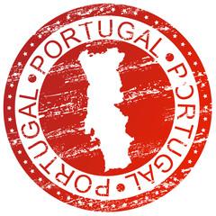 Carimbo com o mapa de Portugal