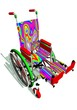 Funny colorful wheelchair
