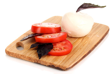 tasty mozzarella with tomatoes