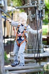 little boy at a canopy tour