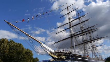 Cutty Sark sailing ship at Greenwich, London.