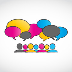 Abstract Colorful Conversation Speech Bubbles