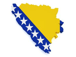Bosnia And Herzegovina Map 3d Shape