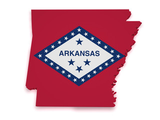 Arkansas Map 3d Shape