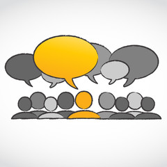 standing out concept dialog bubbles