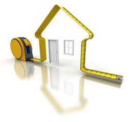 Projet de Construction, mètre ruban
