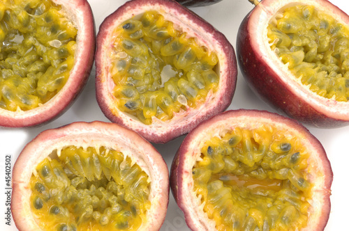 Halved Passion Fruit