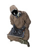 Man in Hazard Suit with laptop