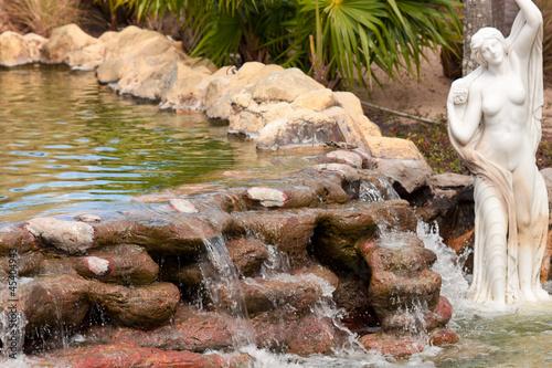 bassin et cascade de jardin