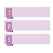 Vector faq labels, three options with numbers