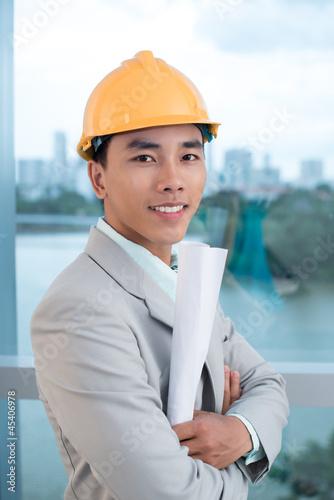 Confident contractor