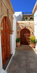 Lindos Door Rhodes Greece