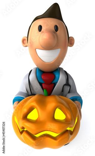 Doctor and pumpkin