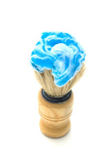 Shaving brush with foam cream