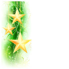 Green golden star border