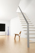 Room with stairs and chair