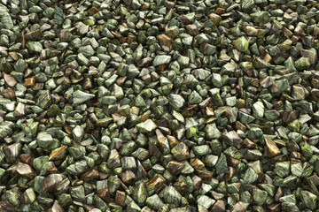 colorful crushed gravel