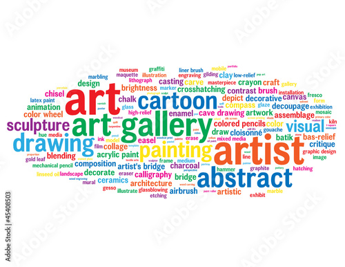 Art tag cloud artistic keywords work of art artist for Architecture keywords