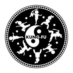 Kung fu logo,  isolated on white background