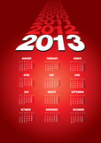 Happy new year 2013 calendar