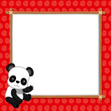 illustration of Panda with white blank