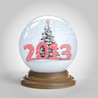 snowglobe with 2013 new year message