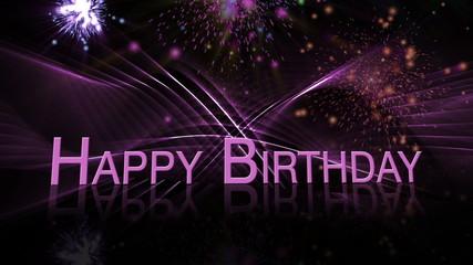 Happy Birthday - Herzlichen Glückwunsch