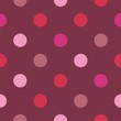 Seamless vector pattern pink polka dots dark background