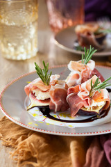 Figs with Prosciutto, Goat Cheese and Rosemary