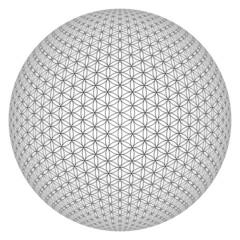 3D Kugel - Blume des Lebens freigestellt