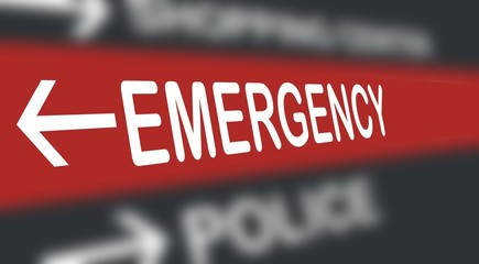 emergency (ER) - directional signs - Guide sign