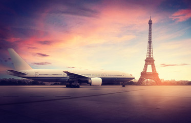 Airplane in Paris