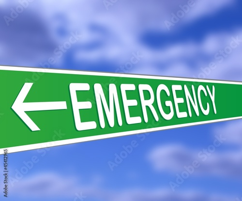 emergency - Guide sign