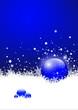 Winter, Blau, Eiskristalle, Schneeflocken, Kugel, Glaskugel