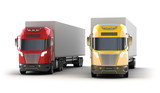 Trucks.Isolated on white. My own design.