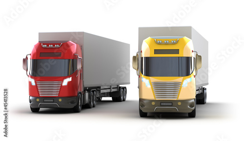 Trucks.Isolated on white. My own design.