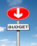 Budget decrease. poster