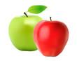Pommes rouge et verte