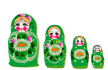 Matryoshka dolls in vector