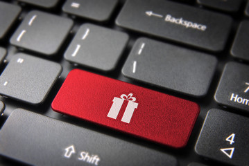 Xmas gift keyboard key season background