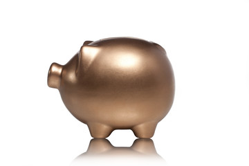 close up shot of piggy bank