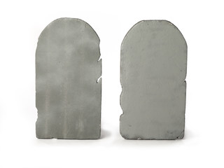 illustrated image of two gravestones