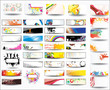 Big collection banners and business cards