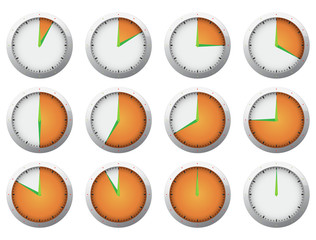Clock - Stop watch timer set 1