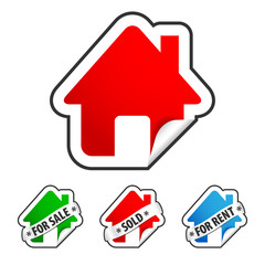 House real estate sticker set